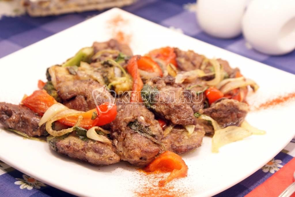 Блюда из куриной печени с овощами