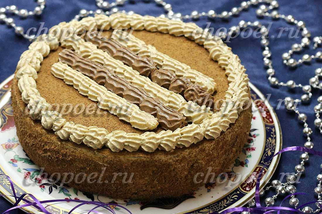 Бисквитный торт с кремом из сливок рецепт с фото