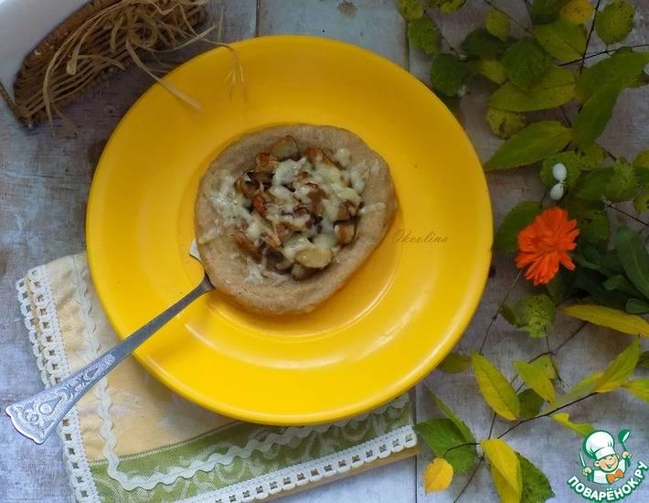 Быстрые лепешки с грибами