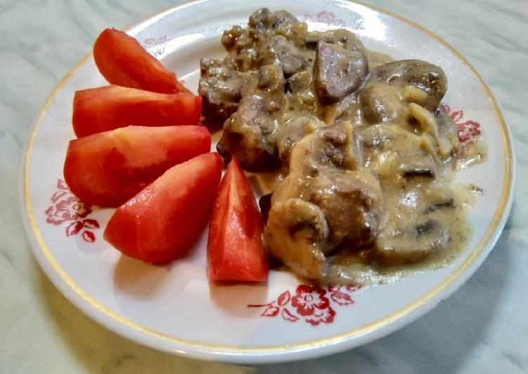 Куриная печень с грибами в яйцах - рецепт с фотографиями - patee. рецепты