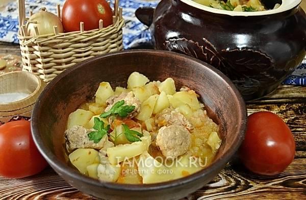 Картошка с капустой в горшочках рецепт с фото