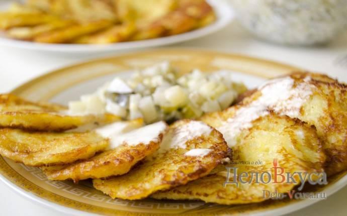 Рецепт драников из картошки с луком с фото