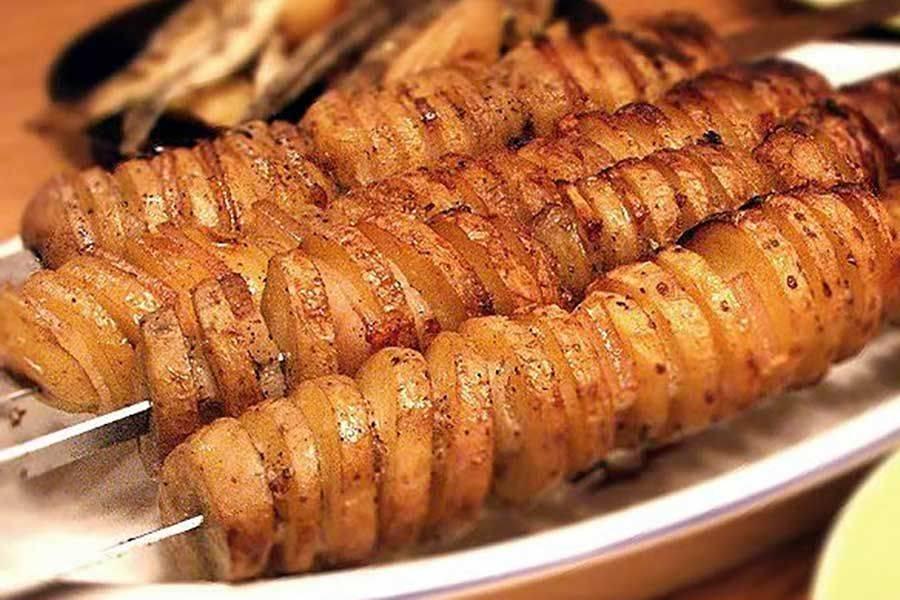 Картофель в духовке с салом: рецепт и фото