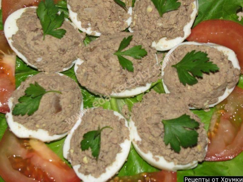 Фаршированный яйца по-гречески для застолья