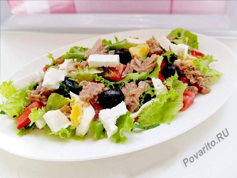 Салат с консервированным тунцом: пошаговый рецепт с фото