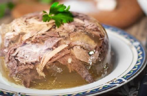 Рецепт холодца из свиной рульки и курицы - 14 пошаговых фото в рецепте