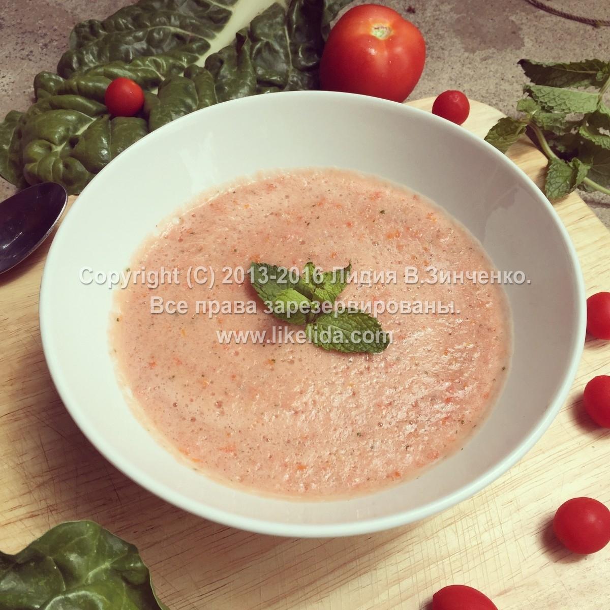 Холодный суп гаспачо — классический рецепт в домашних условиях