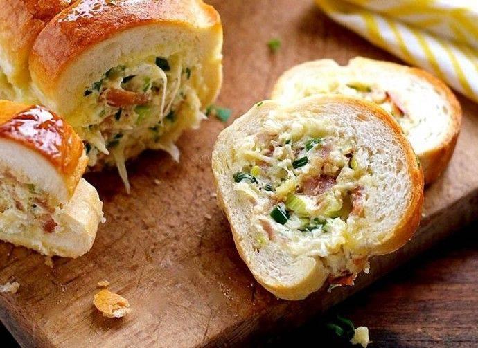 Запеченная в духовке картошка фаршированная с беконом