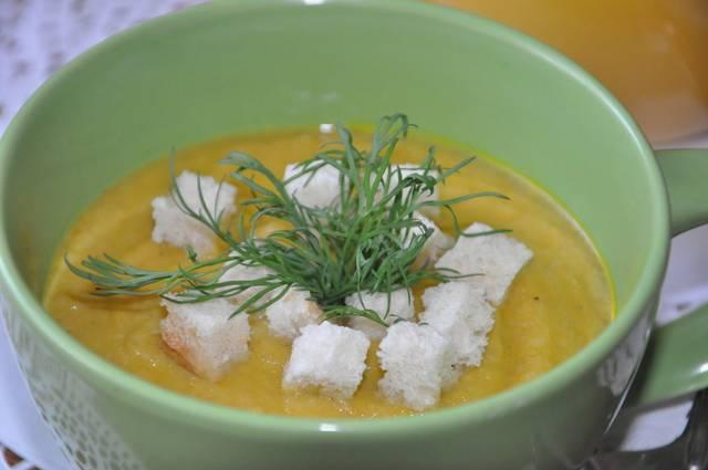 Крем-суп из цветной капусты с грибами