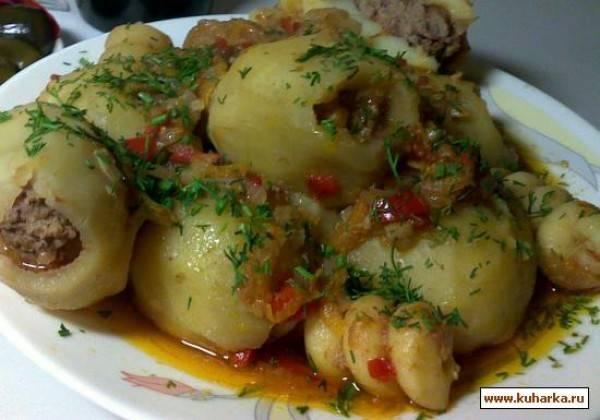 Фаршированный картофель - рецепты с фото. как приготовить картофель с начинкой в духовке или мультиварке