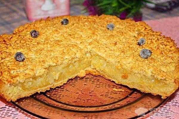 Насыпной лимонный пирог