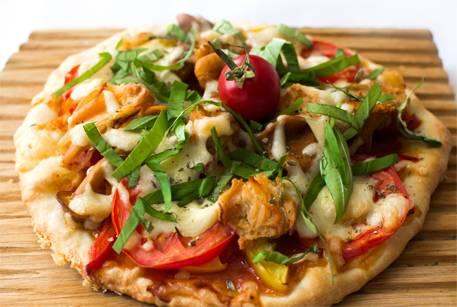 Пицца с грибами (вешенки)