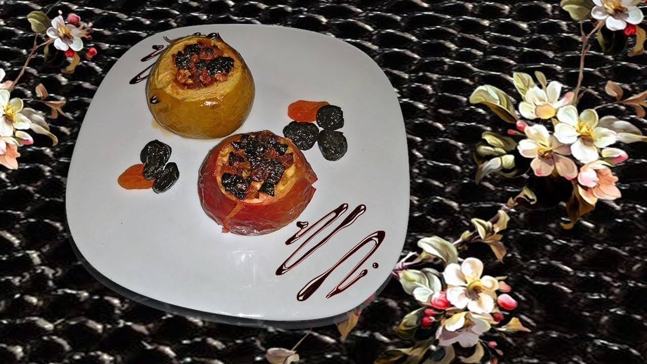 Печёные яблоки с творогом (с корицей и мёдом)   вкусно и полезно (vip)