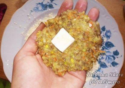 Зразы со шпинатно-сырной начинкой