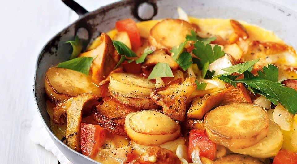 Жареная картошка с грибами на сковороде – 3 бесподобных рецепта