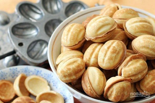 Печенье орешки со сгущенкой. пошаговый рецепт с фото
