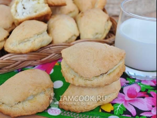 Печенье с творожной начинкой и грецкими орехами