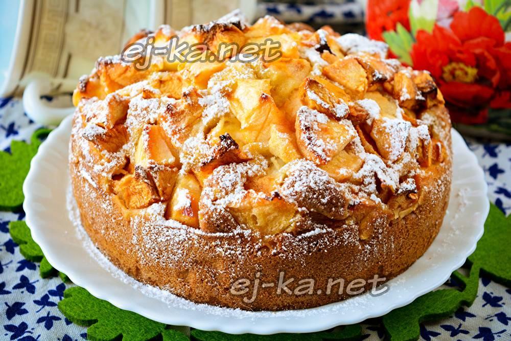 Кекс с яблоками (на кефире, творожный): рецепты с фото
