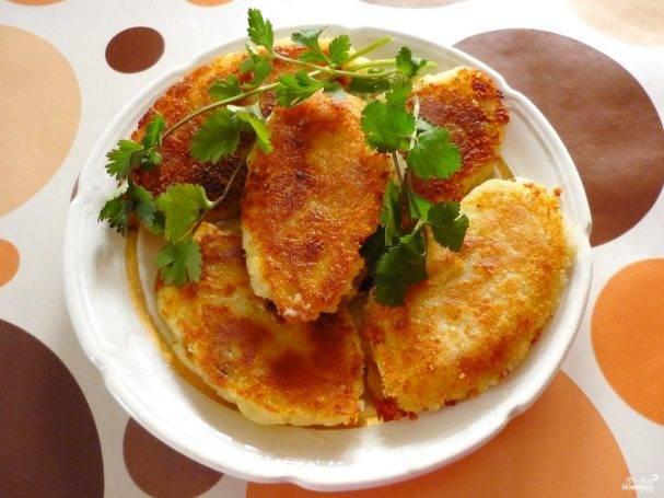 Картофельные зразы с фаршем и сыром
