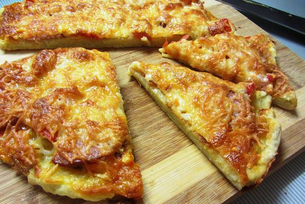 Картофельная пицца в сковороде