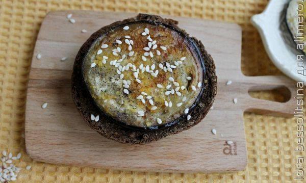 Бутерброд с баклажаном - постное утреннее меню