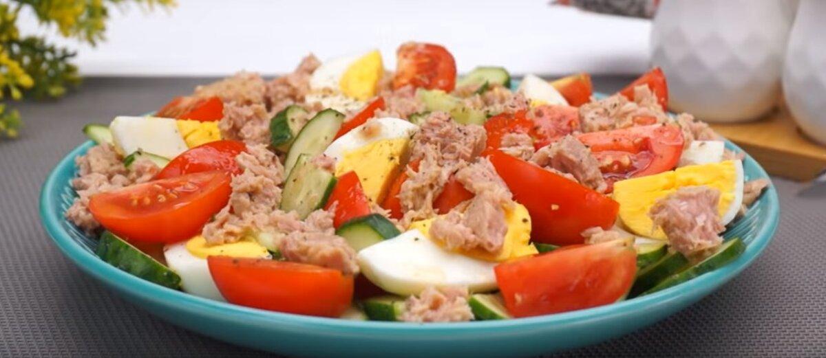 Салат с тунцом №2