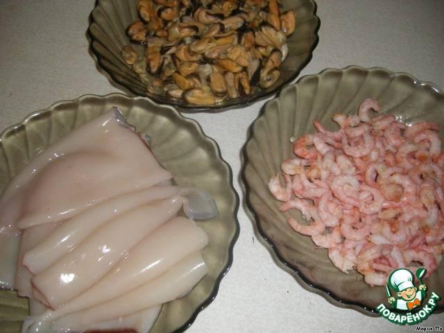 Фаршированные кальмары