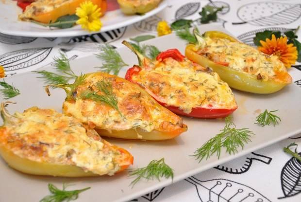 Как приготовить перцы, фаршированные макаронами с мясом