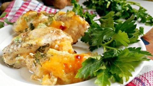 Курица под винно-сливочным соусом