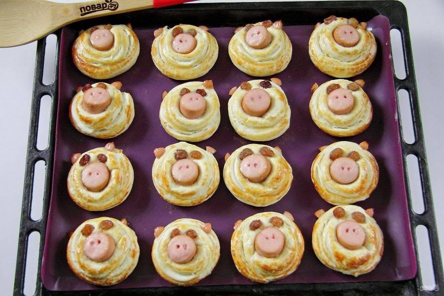 Сдобные булочки для детей - поросята: пошаговый рецепт с фото