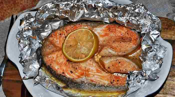 Запеченный лосось