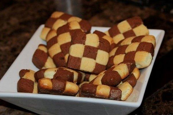 Рассыпчатое печенье из кунжутной пасты тахини