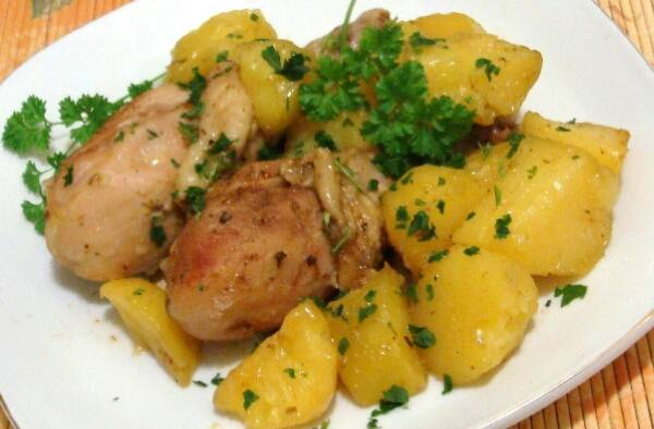 Куриные голени с овощами в мультиварке - 11 пошаговых фото в рецепте
