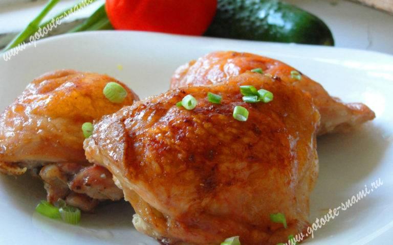 Куриные бёдрышки в соусе в духовке - 14 пошаговых фото в рецепте