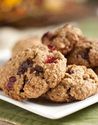 Печенье с сушеной клюквой и глазурью