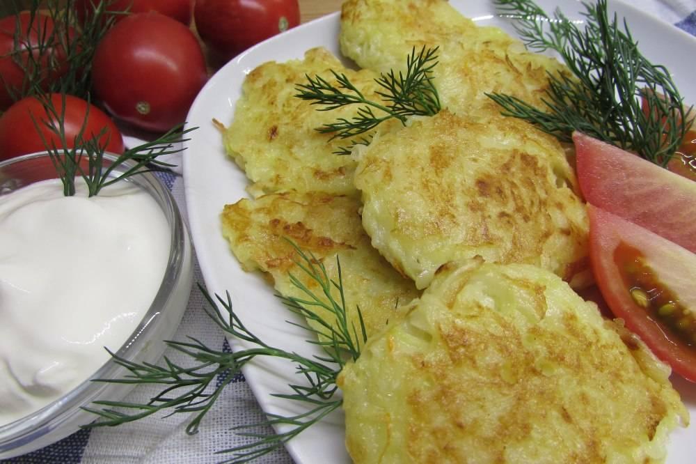 Драники из кабачков и картошки