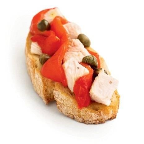 Брускетта с печеным перцем и фетой простой домашний рецепт пошагово с фото