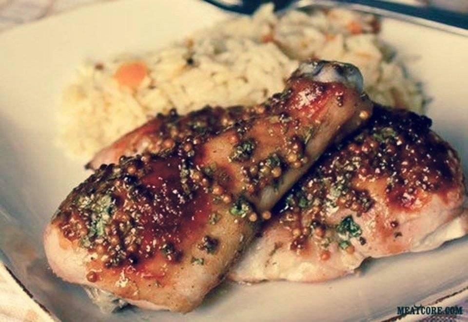 Курица в духовке с медом и горчицей: рецепты приготовления, варианты маринадов с фото