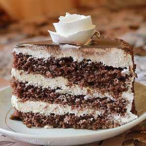 Пирог «зебра» на сметане: рецепт с фото пошагово
