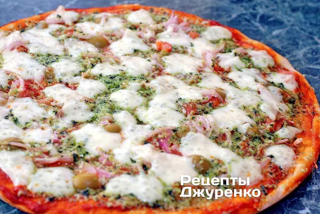 Пицца из кабачка с мукой