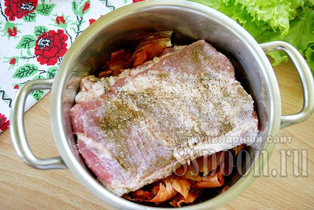 Почеревок свиньи рецепт вареный в луковой шелухе