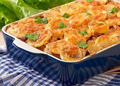 Рецепты мяса по-французски с картофелем в духовке