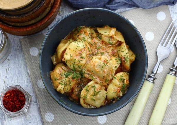 Гречка с фасолью и овощами