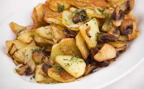 Грибы маслята с картошкой — пальчики оближешь