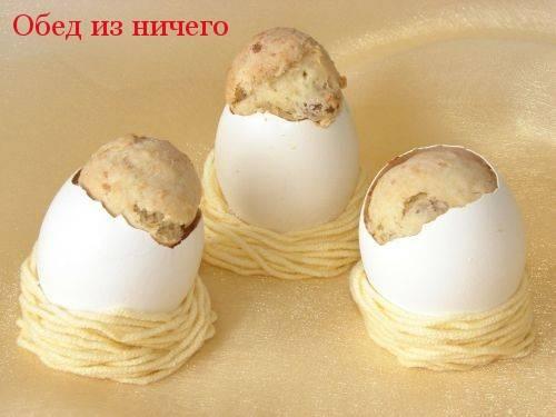 Пасхальные куличики в яичных скорлупках