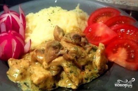 Фрикасе из курицы с грибами: пошаговые рецепты. как приготовить эксклюзивное фрикасе из курицы с грибами и овощами