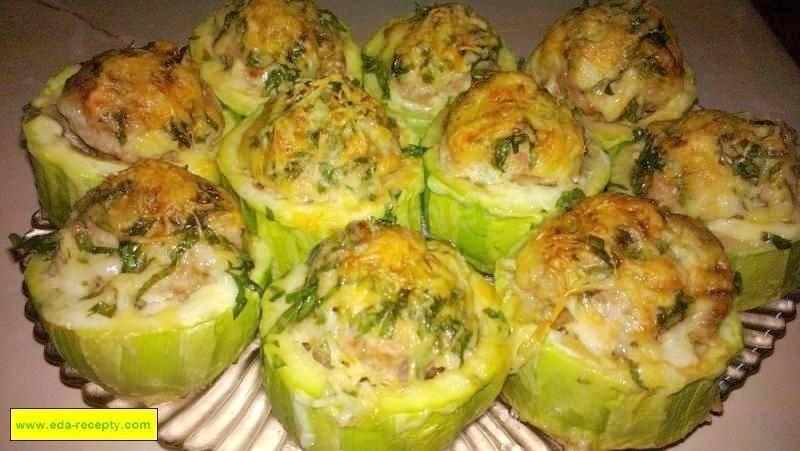 Фаршированные кабачки, запеченные в духовке: рецепты с фото