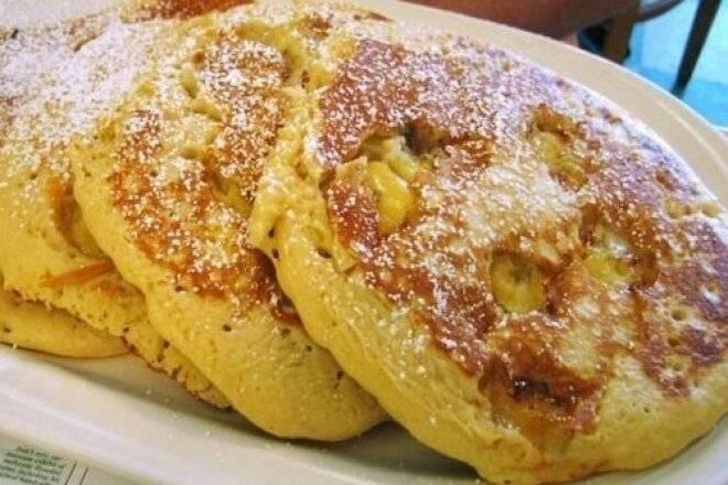 Оладьи с бананом на кефире - 9 пошаговых фото в рецепте