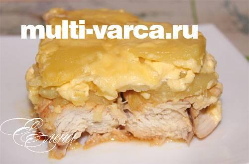 Курица с картошкой в духовке с майонезом и сыром