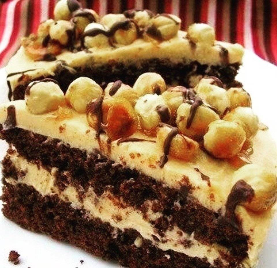 "Шоколадно-малиновый торт ""александр"""